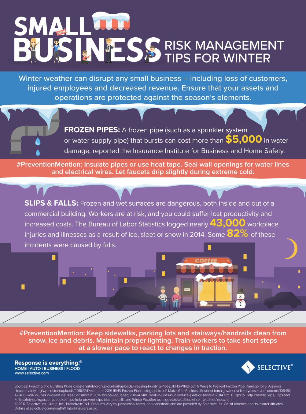 Here are a few tips to keep your workers safe and lower your risk this winter.