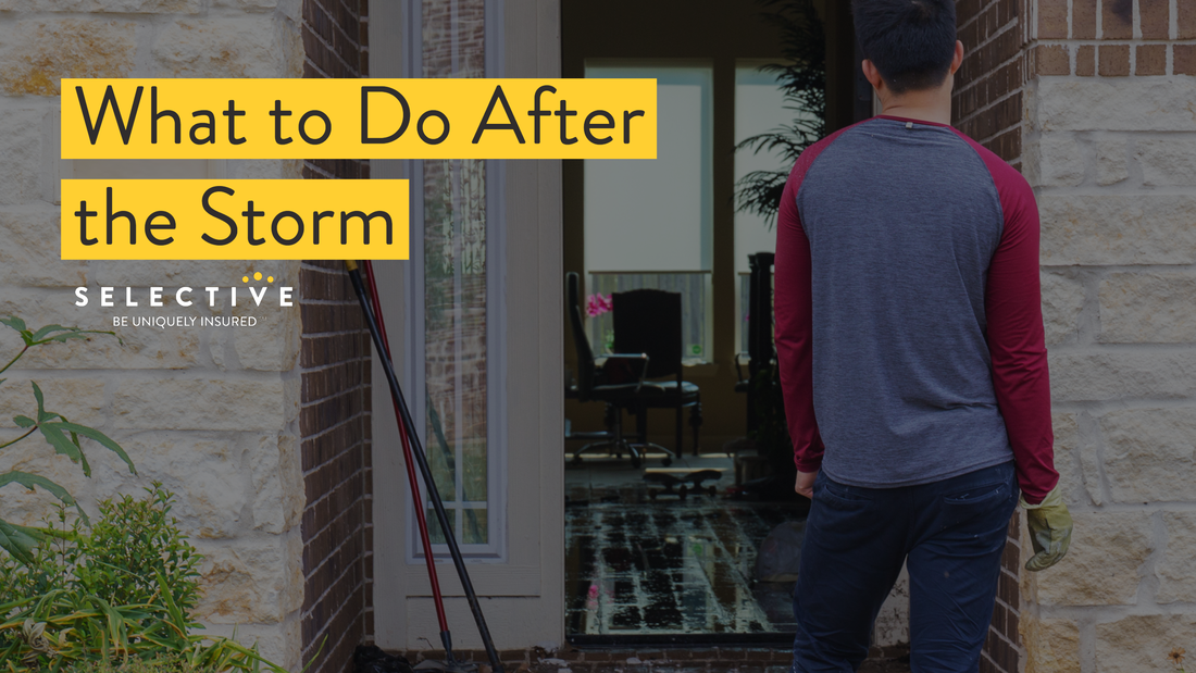 Here is how you can start the recovery process after a natural disaster or intense storm.