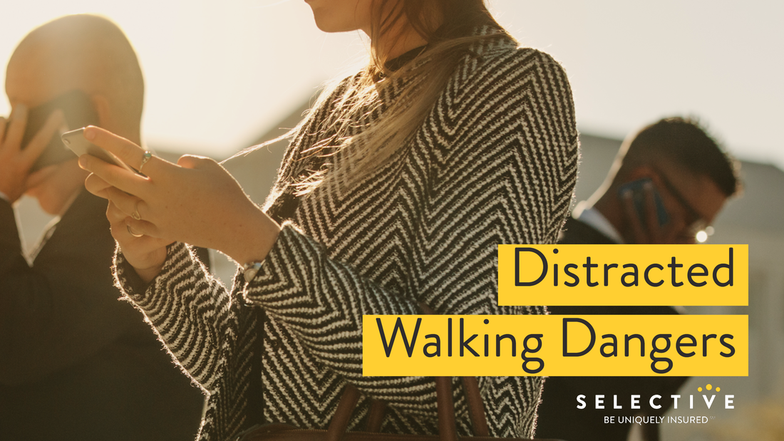 Distracted walking is becoming a major safety concern, both on the street and in the workplace.