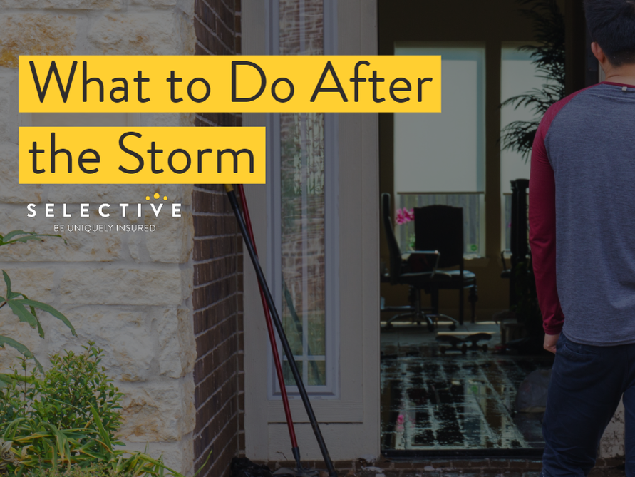 Consider these steps following a severe storm.
