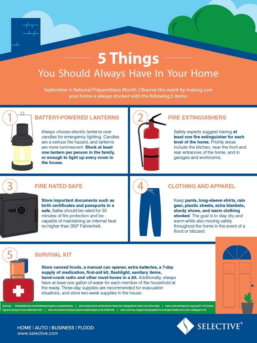 Make sure your house is always stocked with these 5 items.