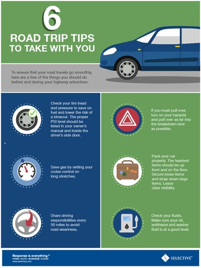 To ensure that your road travels go smoothly, here are a few of the things you should do before and during your highway adventure.